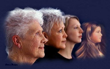 Aging of a female over the decades